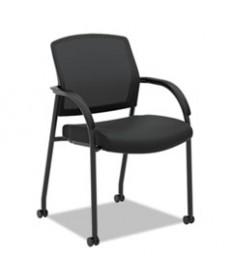 Lota Series Mesh Guest Side Chair, Black Fabric, Black Base