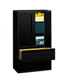 700 SERIES LATERAL FILE WITH STORAGE CABINET, 42W X 18D X 64.25H, BLACK