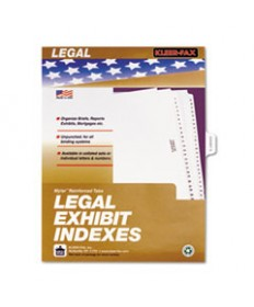 80000 Series Legal Index Dividers, Side Tab, Printed exhibit E, 25/pack