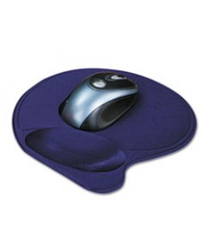Wrist Pillow Extra-Cushioned Mouse Pad, Nonskid Base, 8 X 11, Blue