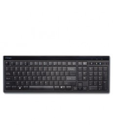 Slim Type Standard Keyboard, 104 Keys, Black/silver