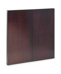 Corsica Series Veneer Dry Erase Presentation Board, 48 X 48, Mahogany Frame