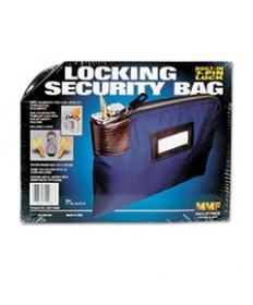 Seven-Pin Security/night Deposit Bag W/2 Keys, Nylon, 8 1/2 X 11, Navy