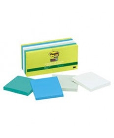 Recycled Notes In Bora Bora Colors, 3 X 3, 90-Sheet, 12/pack
