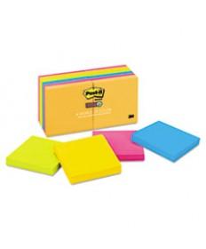 Pads In Rio De Janeiro Colors, 3 X 3, 90-Sheet, 12/pack
