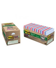 Recycled Notes In Bali Colors, 3 X 3, 70-Sheet, 24/pack