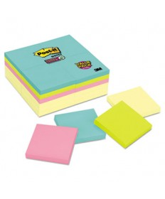 Note Pads Office Pack, 3 X 3, Canary/miami, 90/pad, 24 Pads/pack