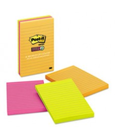 Pads In Rio De Janeiro Colors, Lined, 4 X 6, 90-Sheet, 3/pack