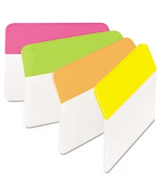 Angled Tabs, 2 X 1 1/2, Solid, Aqua/lime/red/yellow, 24/pack