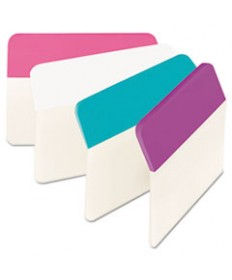 """Tabs, 1/5-Cut Tabs, Assorted Colors, 2"""" Wide, 24/Pack"""
