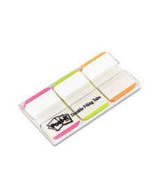 File Tabs, 3 X 1 1/2, White, 50/pack