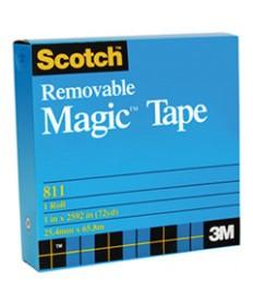 Removable Tape, 3/4 X 1296, 1 Core, Transparent