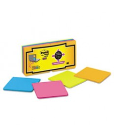 Full Adhesive Notes, 3 X 3, Assorted Rio De Janeiro Colors, 16/pack