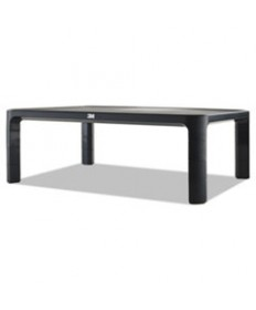 Adjustable Monitor Stand, 16 X 12 X 1 3/4 To 5 1/2, Black