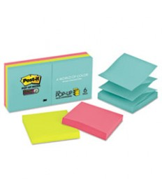 Pop-Up 3 X 3 Note Refill, Miami, 90/pad, 6 Pads/pack