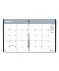 7530016007602 SKILCRAFT Monthly Appointment Planner, Wirebound: Non-Refillable, 11 x 8.5, Black Cover, 2022-2023