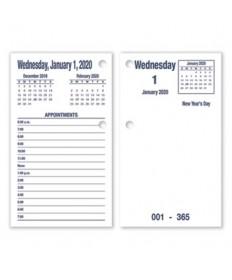 7510016649513 SKILCRAFT DAYMAX Type II Calendar Pad, 6 x 3.5, Blue, 2022
