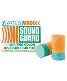 6515001376345, EAR PLUGS, UNCORDED, PVC FOAM, ORANGE/GREEN, 200 PAIRS/BOX