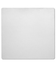 7220001516518, SKILCRAFT PVC CHAIR MAT, LOW-TO-MEDIUM PILE CARPET, 60 X 60, CLEAR