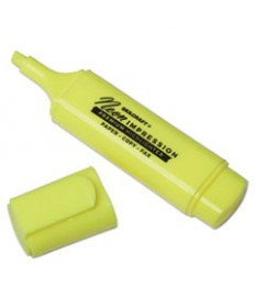 7520012017791, FLAT FLUORESCENT HIGHLIGHTER, CHISEL TIP, YELLOW, DOZEN