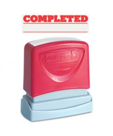 7520012074111, Pre-Inked Message Stamp, Completed, Red