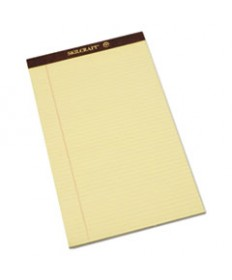 7530012096526, LEGAL PAD, LEGAL RULE, 8 1/2 X 14, CANARY, 50 SHEETS, 1 DOZEN