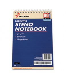 7530002237939 SKILCRAFT EXECUTIVE STENO BOOK, WIDE/LEGAL RULE, 6 X 9, WHITE, 80 SHEETS, 12/PACK