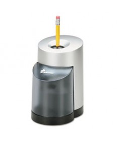 7520012414229, ELECTRIC PENCIL SHARPENER, BLACK/SILVER