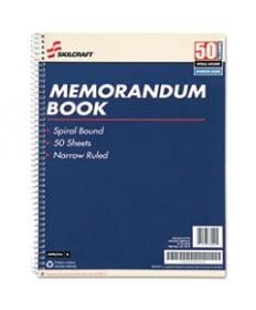 7530002866952 SKILCRAFT SPIRALBOUND MEMORANDUM BOOK, MEDIUM/COLLEGE RULE, 11 X 8.5, WHITE, 50 SHEETS, 12/PACK