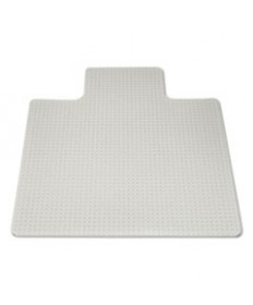 7220013053062, SKILCRAFT HEAVY-DUTY CHAIR MAT, PLUSH-TO-HIGH PILE CARPET, 45 X 53, CLEAR