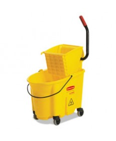 7920013433776, SKILCRAFT, COMBINATION WET MOP BUCKET AND WRINGER, 35 QT, YELLOW