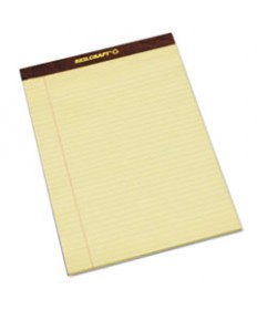 7530013566727 SKILCRAFT LEGAL PADS, WIDE/LEGAL RULE, 8.5 X 11.75, CANARY, 50 SHEETS, DOZEN