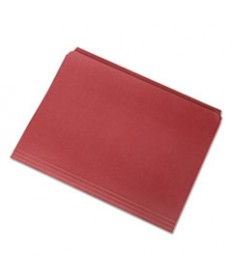 7530013649484, STRAIGHT CUT FILE FOLDERS, RED, LETTER, 100/BOX
