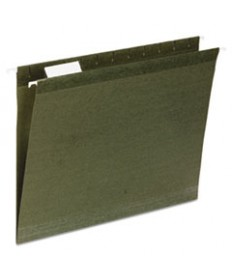 7530013649497, HANGING FILE FOLDER, LETTER SIZE, 1/3 TAB CUT, GREEN, 25/BOX