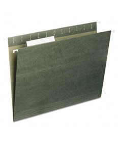 7530013649498, HANGING FILE FOLDER, LETTER SIZE, 1/5 CUT TOP TABS, GREEN, 25/BOX