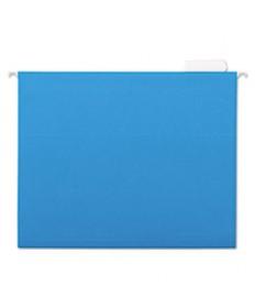 7530013649499 SKILCRAFT HANGING FILE FOLDER, LETTER SIZE, 1/5-CUT TAB, BLUE, 25/BOX