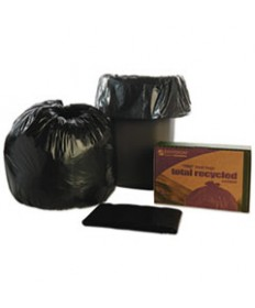 8105013862323, RECYCLED TRASH CAN LINERS, 33 X 40, BLACK/BROWN, 100/BOX