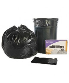 8105013862329, RECYCLED TRASH CAN LINERS, 40 X 48, BLACK/BROWN, 100/CARTON