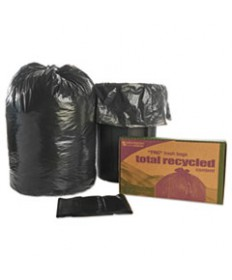 8105013862399, RECYCLED TRASH CAN LINERS, 38 X 60, BLACK/BROWN, 100/CARTON