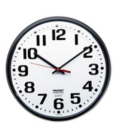 "6645013897944 SKILCRAFT SLIMLINE QUARTZ WALL CLOCK, 12.75"" OVERALL DIAMETER, BLACK CASE, 1 AA (SOLD SEPARATELY)"