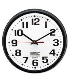 6645013897958, SLIMLINE QUARTZ WALL CLOCK, 9 1/5, WHITE FACE, BLACK