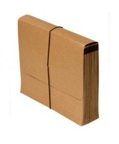 """7520014376365 SKILCRAFT EXPANDING FILE A-Z, 15"""" EXPANSION, 21 SECTIONS, 1/21-CUT TAB, LETTER SIZE, BROWN"""