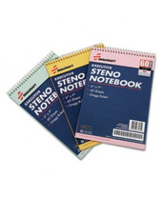 7530014545702, STENO PAD, GREGG RULE, 6 X 9, GOLD/GREEN/PINK, 60 SHEETS, 3/PACK