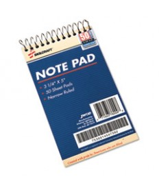 7530014547392, NOTEPAD, NARROW RULE, 3 1/4 X 5 1/2, WHITE, 50 SHEETS, 1 DOZEN