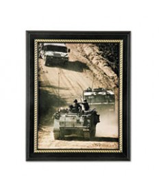 7105014588210, MILITARY-THEMED PICTURE FRAME, ARMY, BLACK, WOOD, 8 1/2 X 11