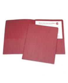 7510015122415, DOUBLE POCKET PORTFOLIO, LETTER SIZE, RED, 25/BOX