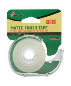 """7520015167575 SKILCRAFT TAPE WITH DISPENSER, 1"""" CORE, 0.75"""" X 36 YDS, MATTE CLEAR"""