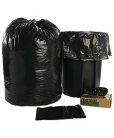 8105015173668, RECYCLED TRASH CAN LINERS, 38 X 58, BLACK/BROWN, 20/BOX