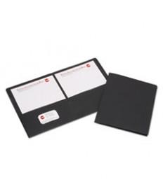 7510015552905, DOUBLE POCKET PORTFOLIO, LETTER SIZE, BLACK, 25/BOX