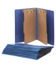 7530015567914 SKILCRAFT PRESSBOARD TOP TAB CLASSIFICATION FOLDER, 2 DIVIDERS, LETTER SIZE, DARK BLUE, 10/BOX